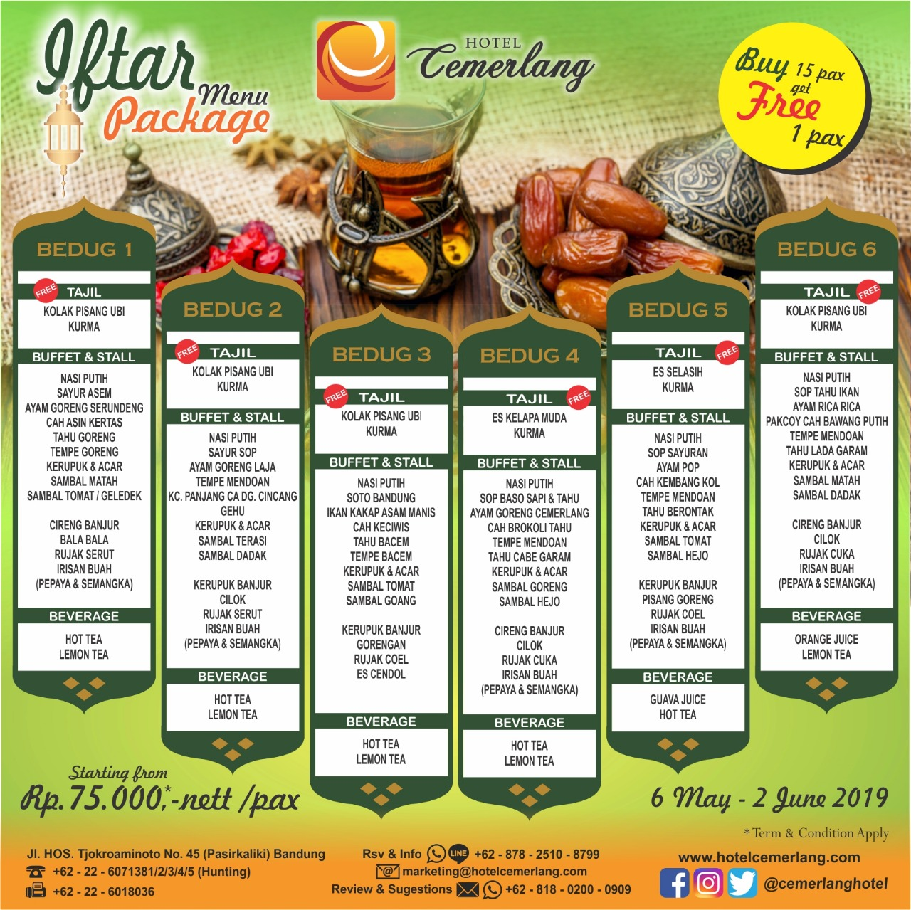 Buka Puasa/Iftar Package 2019