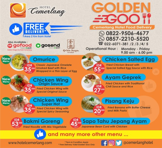 Cemerlang Hotel Food Delivery