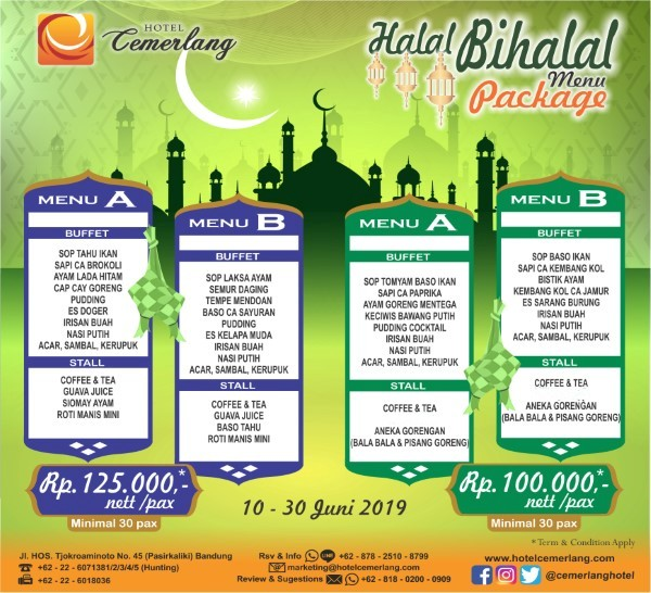 Halal Bihalal Package 2019